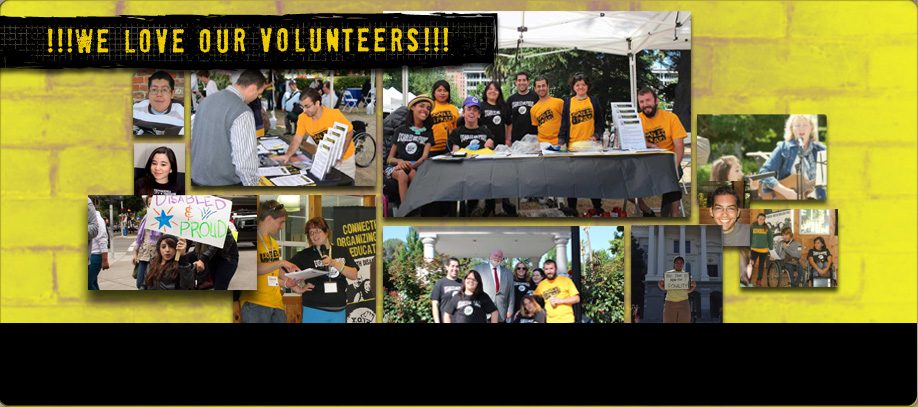 Banner dedicated to our volunteers. Click for information on joining!
