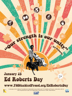 Photo of Ed Roberts Day Retro Poster.