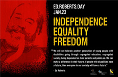 Photo of Ed Roberts Day Poster.